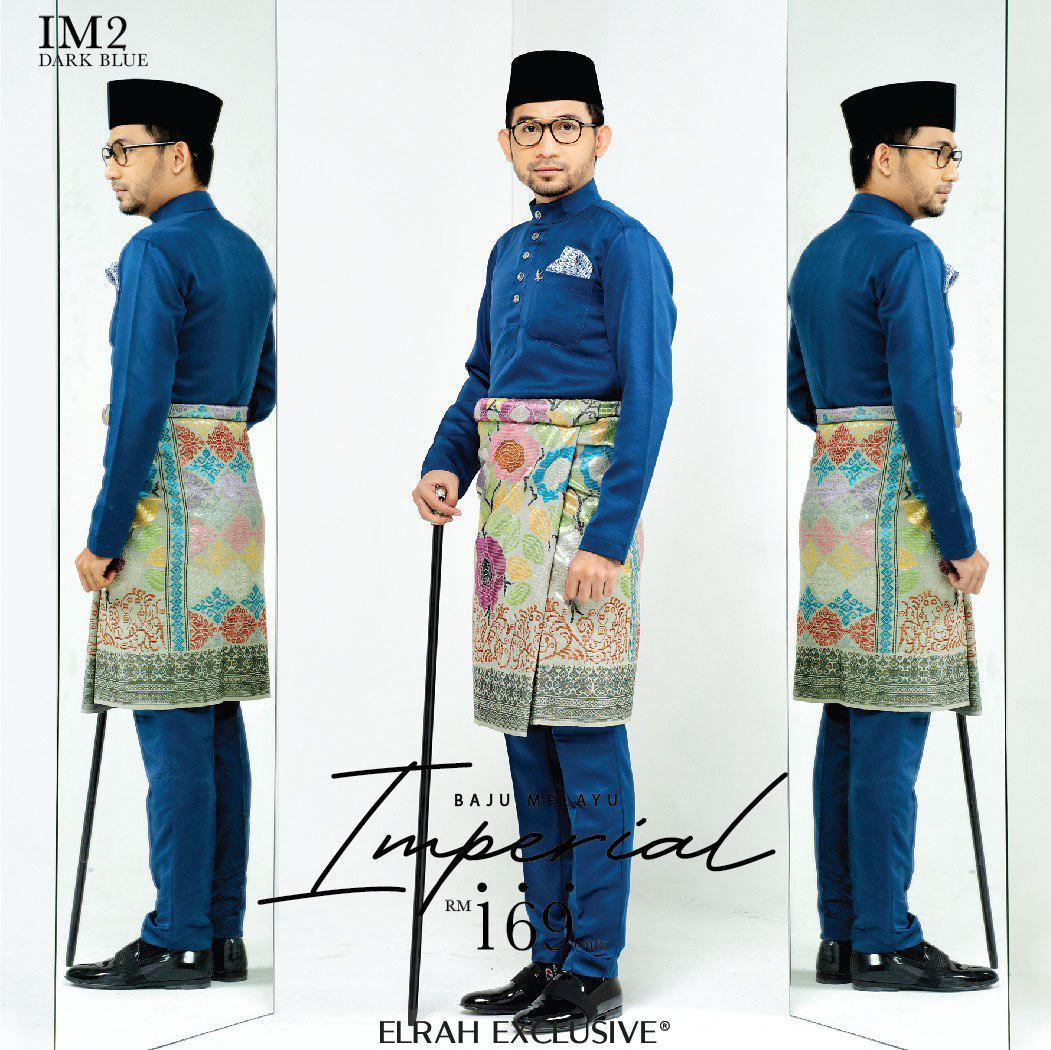 Baju Melayu Imperial Dark Blue