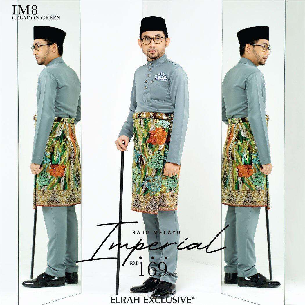 Baju Melayu Imperial Celadon Green
