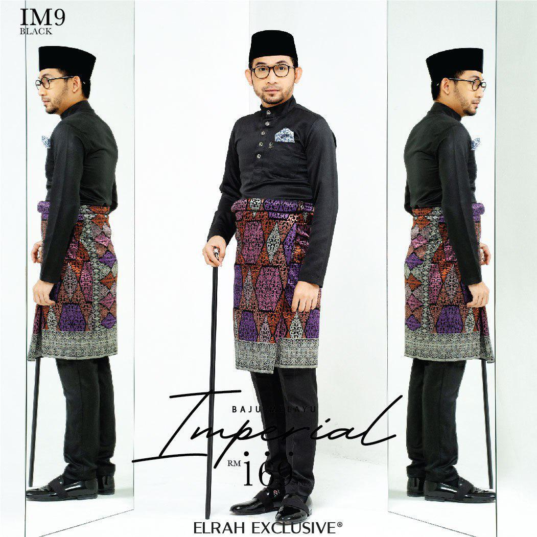 Baju Melayu Imperial Black