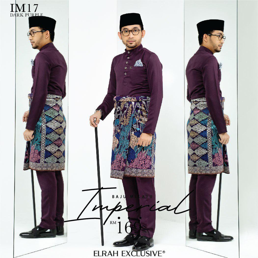 Baju Melayu Imperial Dark Purple