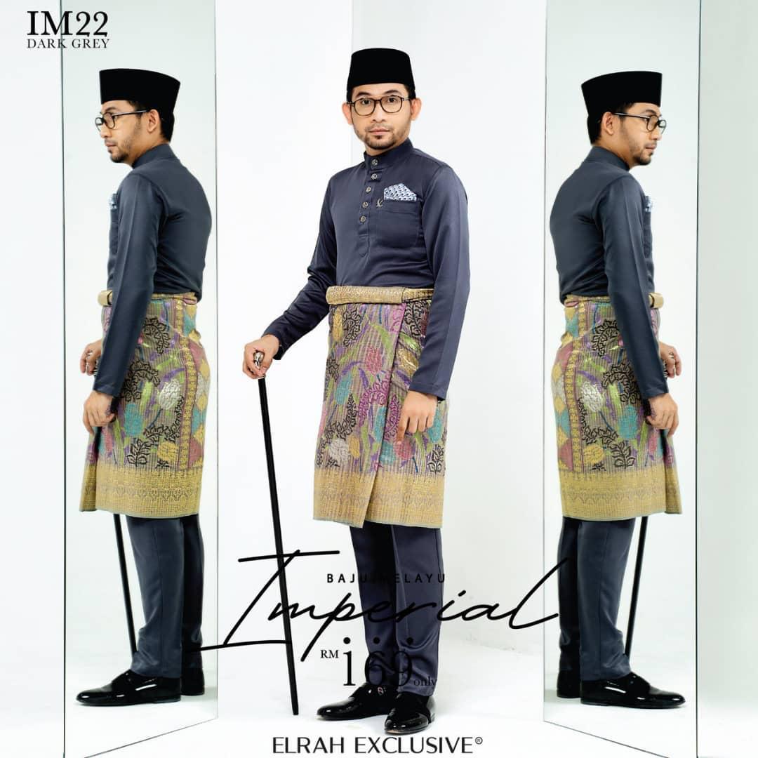 Baju Melayu Imperial Dark Grey