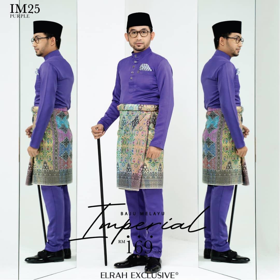 Baju Melayu Imperial Purple