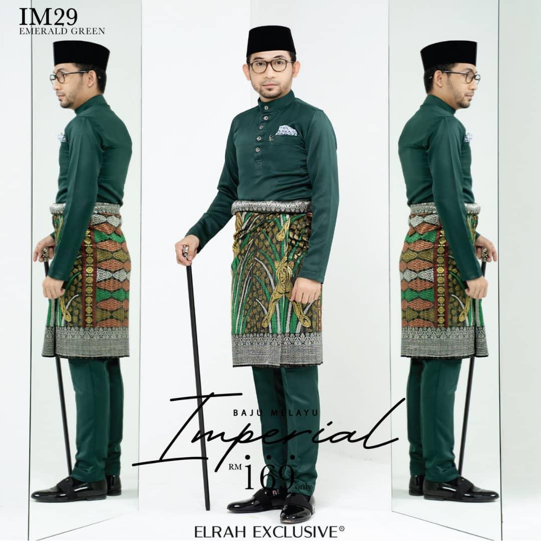 Baju Melayu Imperial Emerald Green