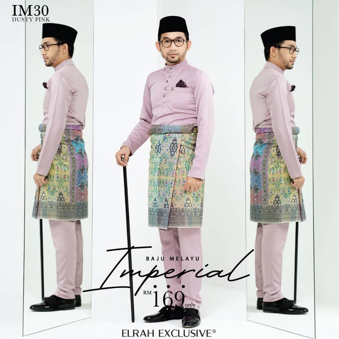 Baju Melayu Imperial Dusty Pink