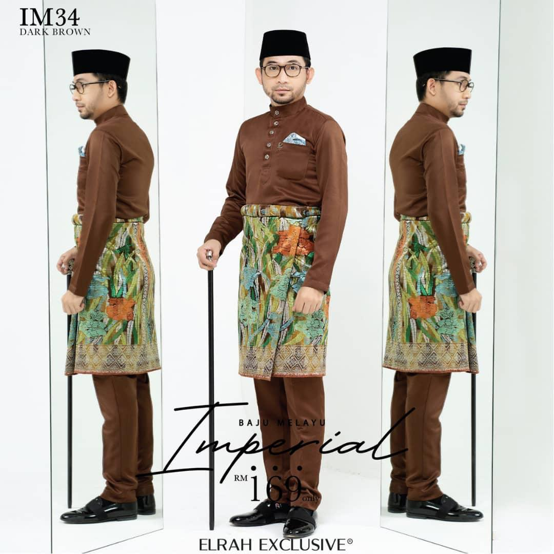 Baju Melayu Imperial Dark Brown