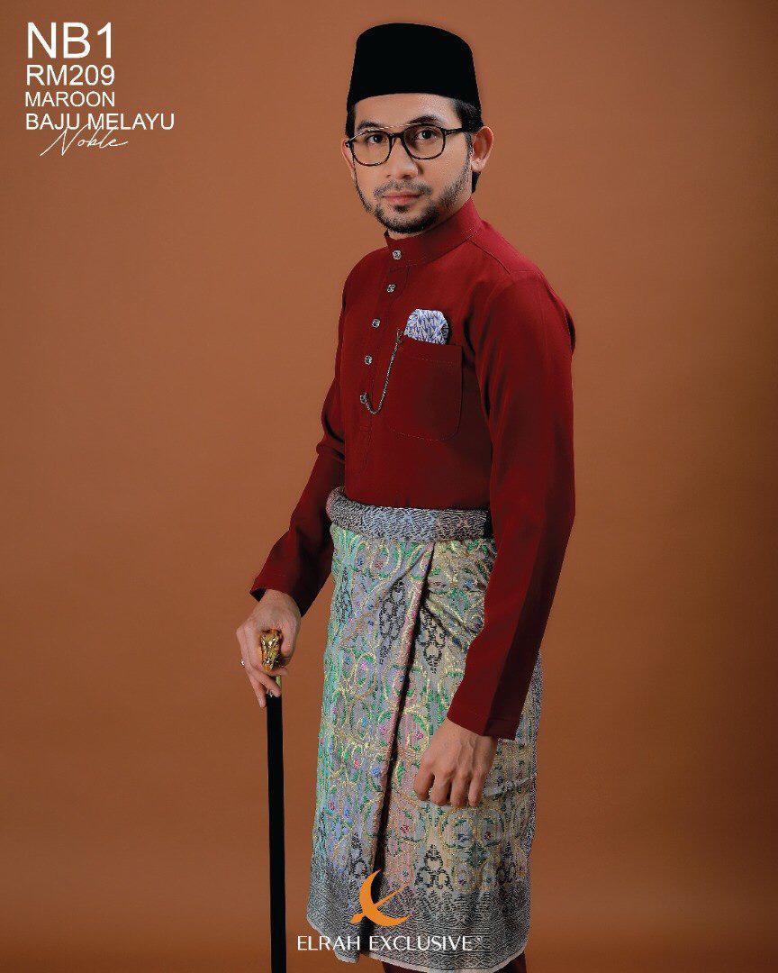 Baju Melayu Noble Maroon