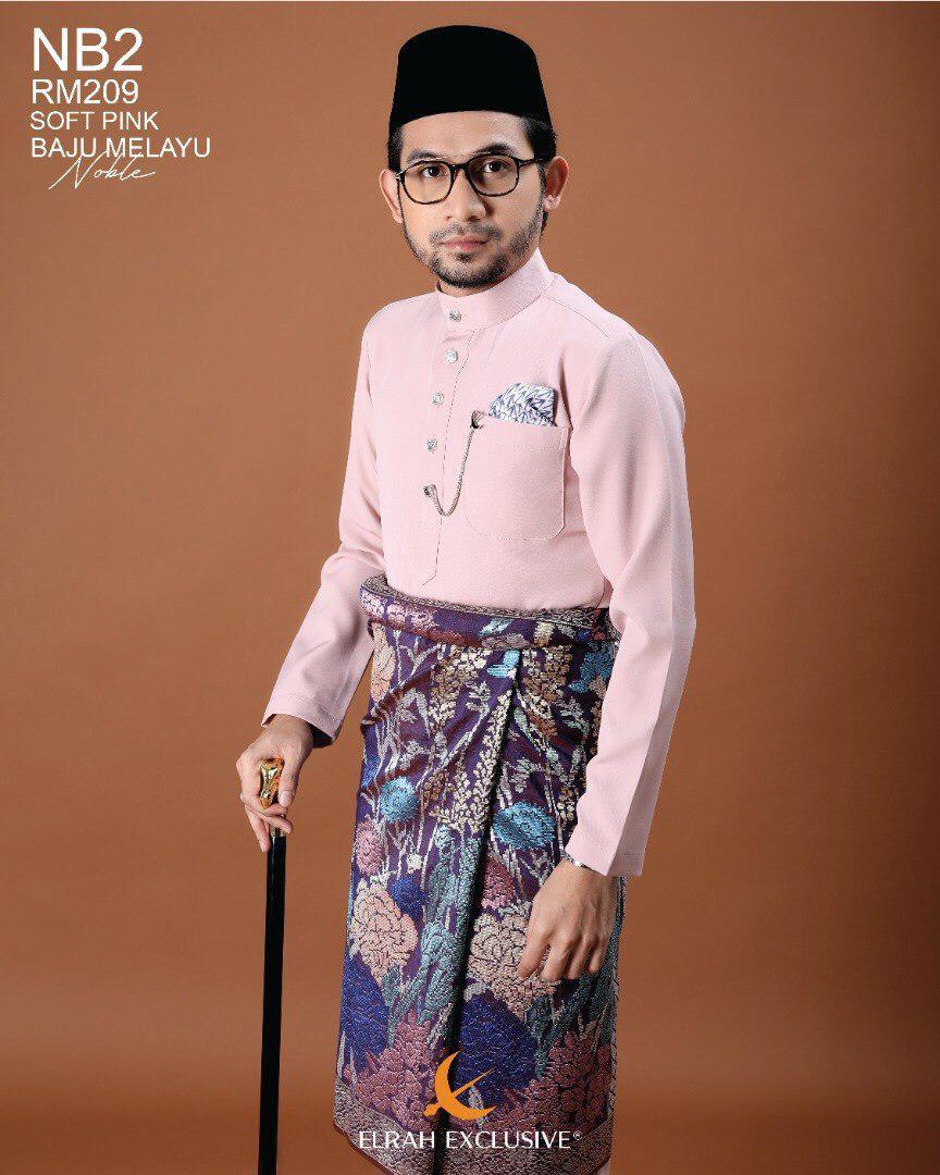 Baju Melayu Noble Soft Pink