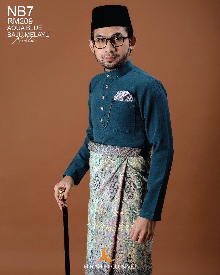 Baju Melayu Noble Aqua Blue