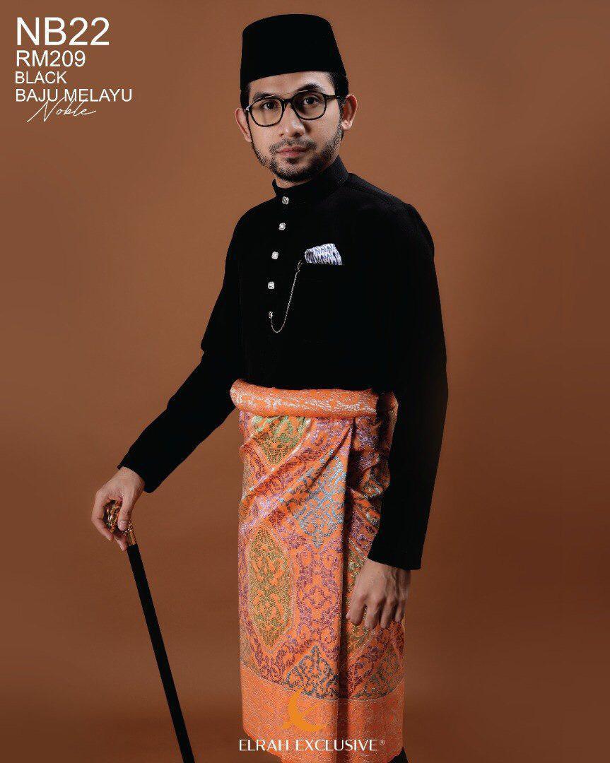 Baju Melayu Noble Black