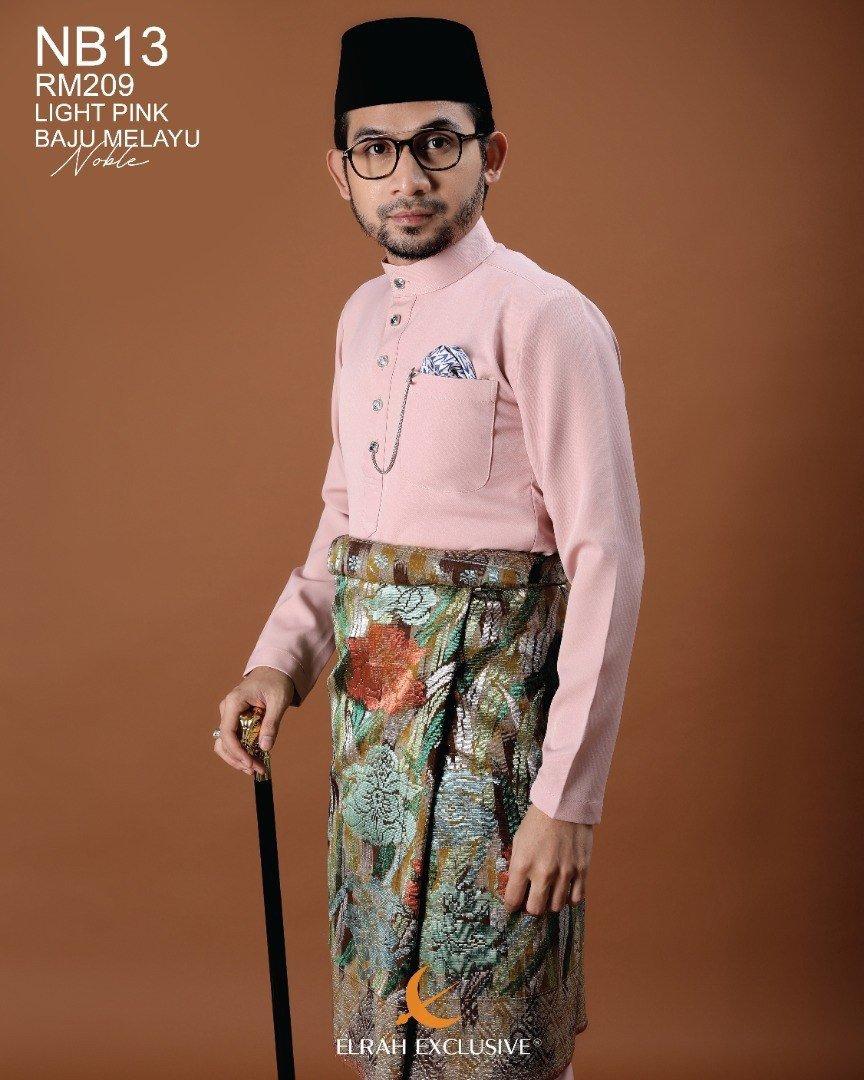 Baju Melayu Noble Light Pink