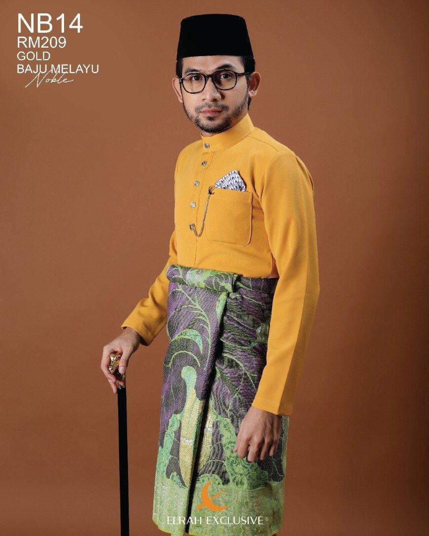 Baju Melayu Noble Gold