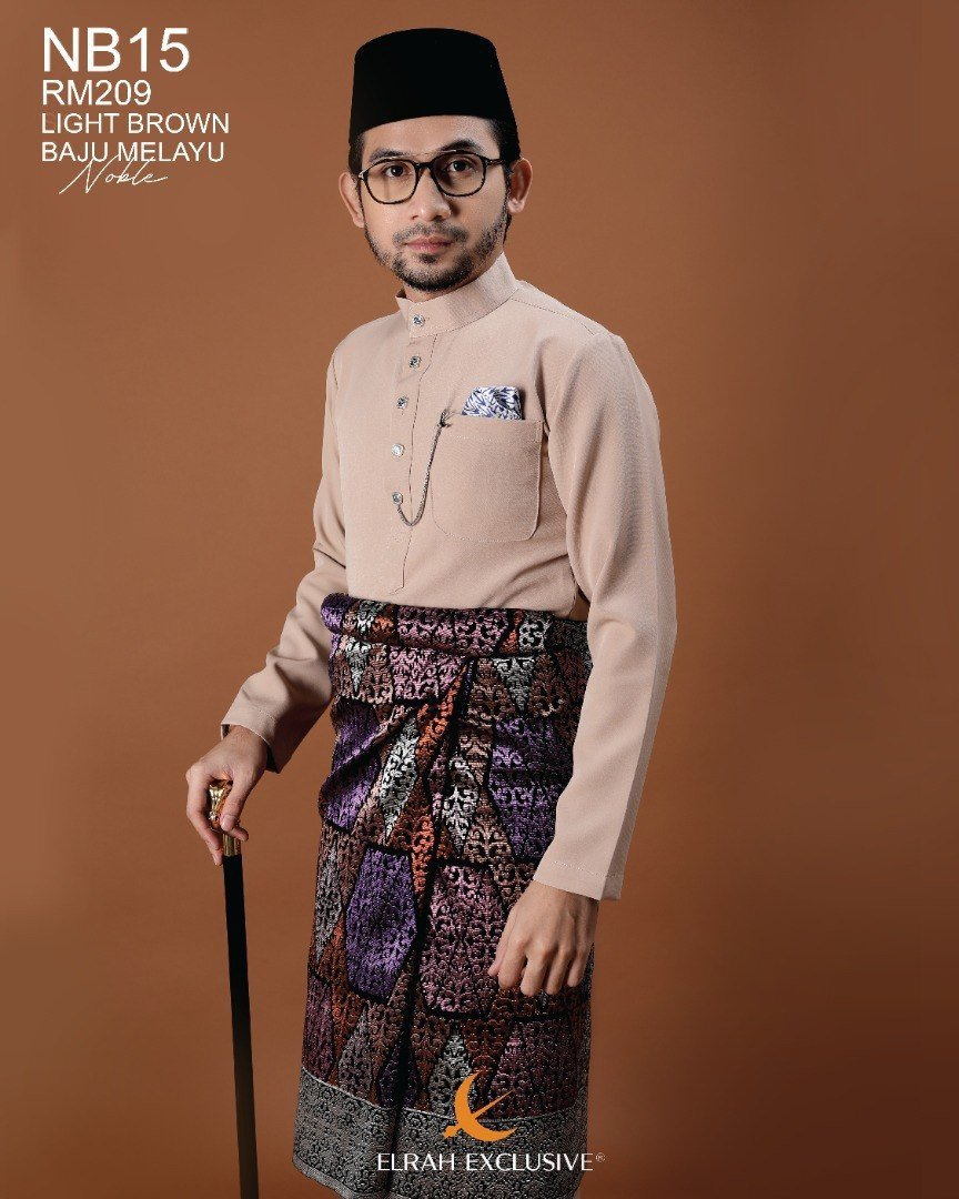 Baju Melayu Noble Light Brown