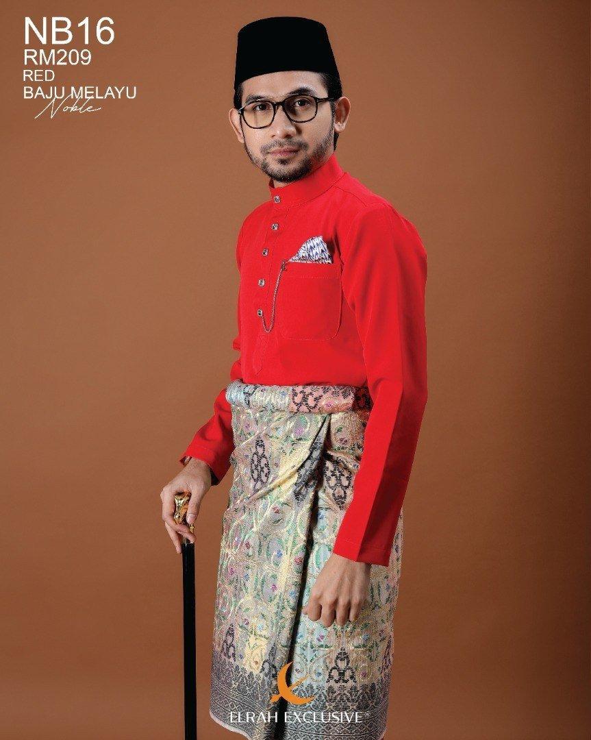 Baju Melayu Noble Red