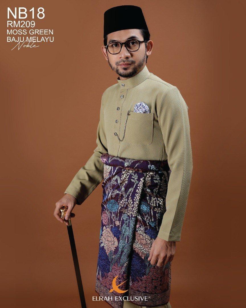 Baju Melayu Noble Moss Green