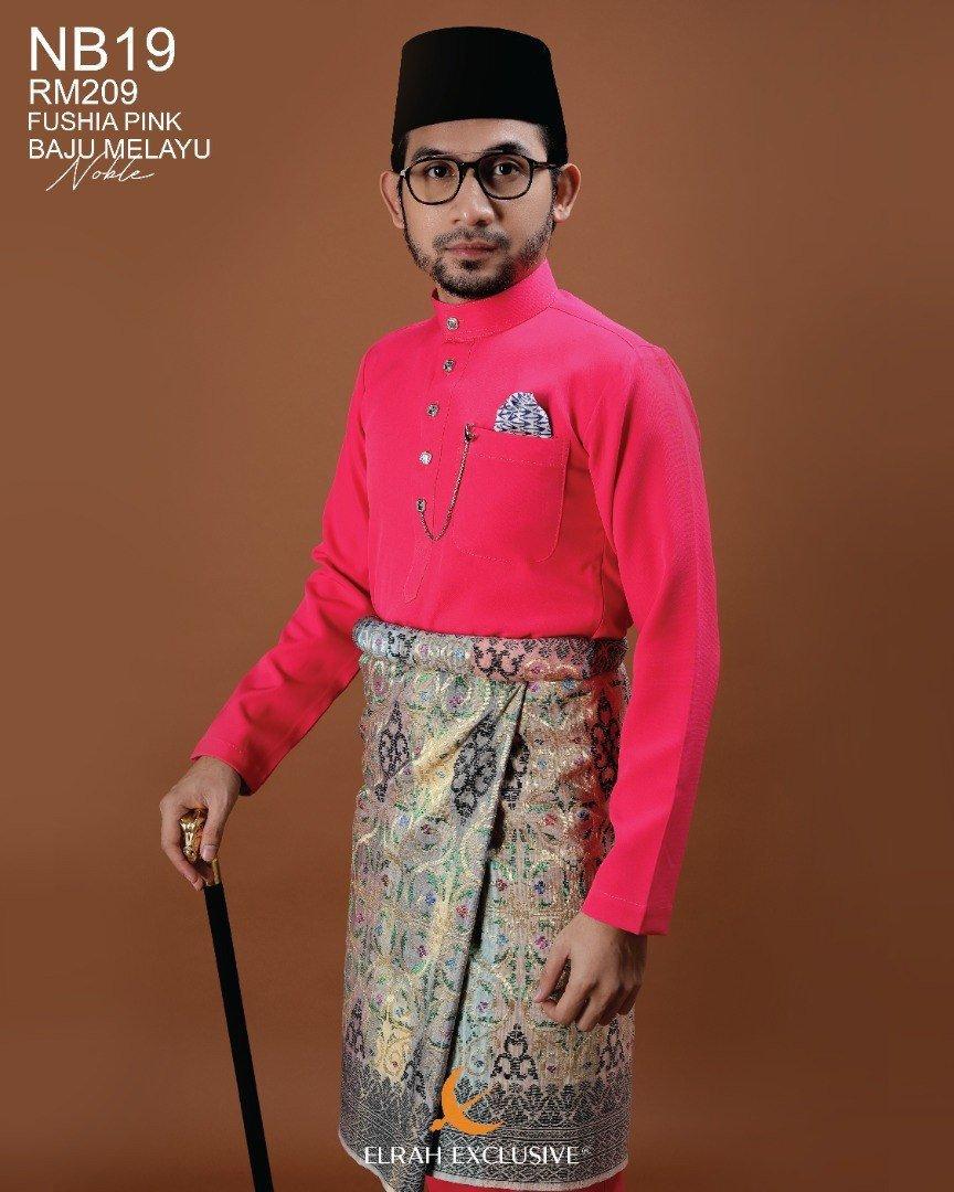 Baju Melayu Noble Fushia Pink