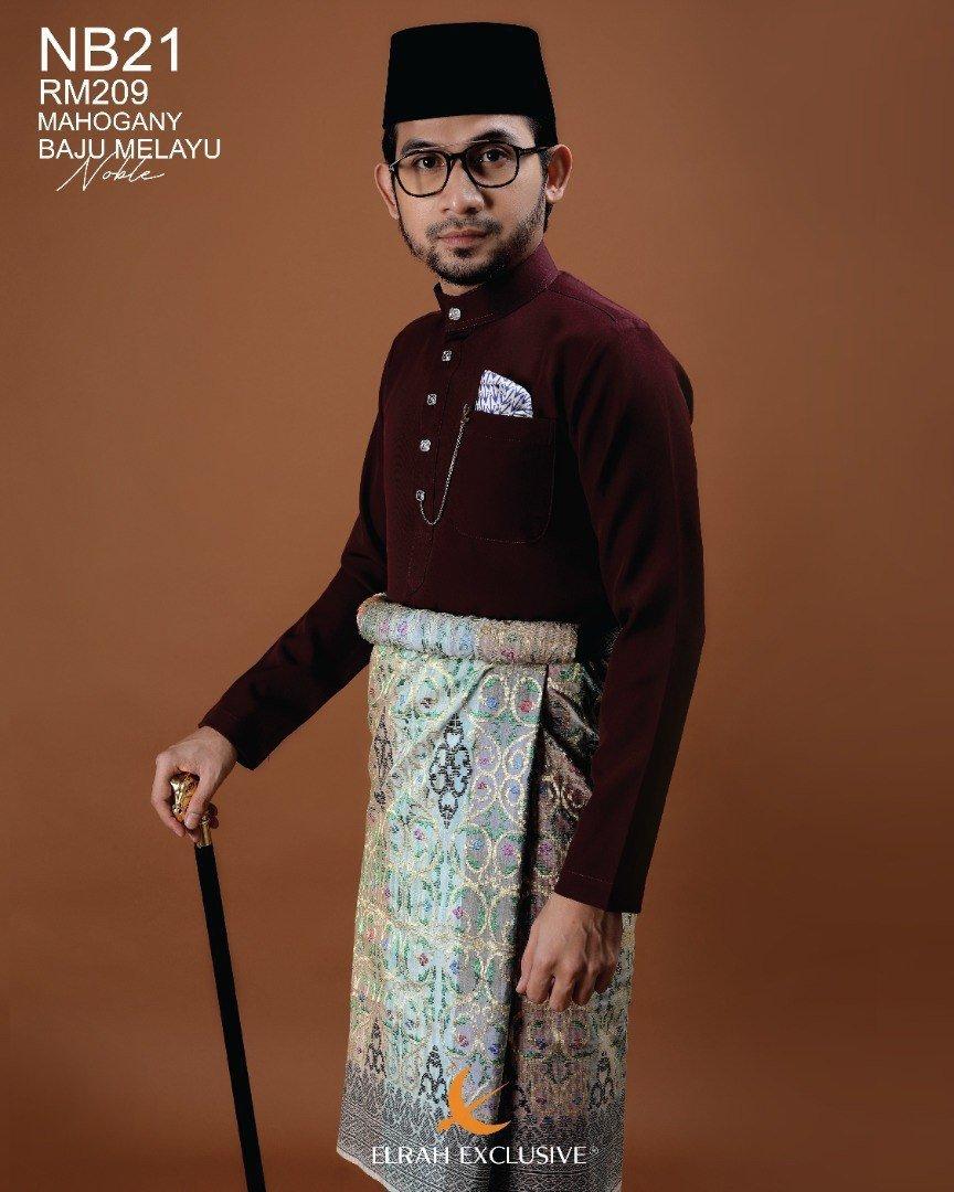 Baju Melayu Noble Mahogany