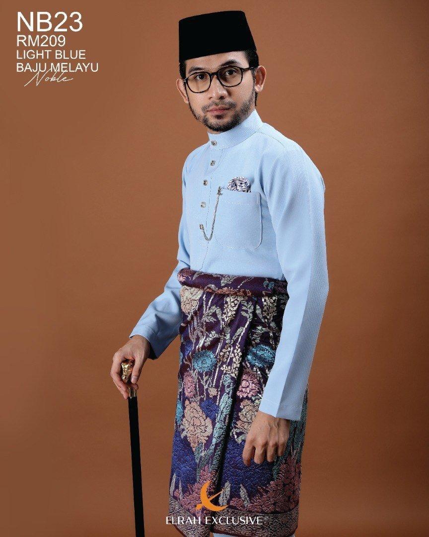 Baju Melayu Noble Light Blue