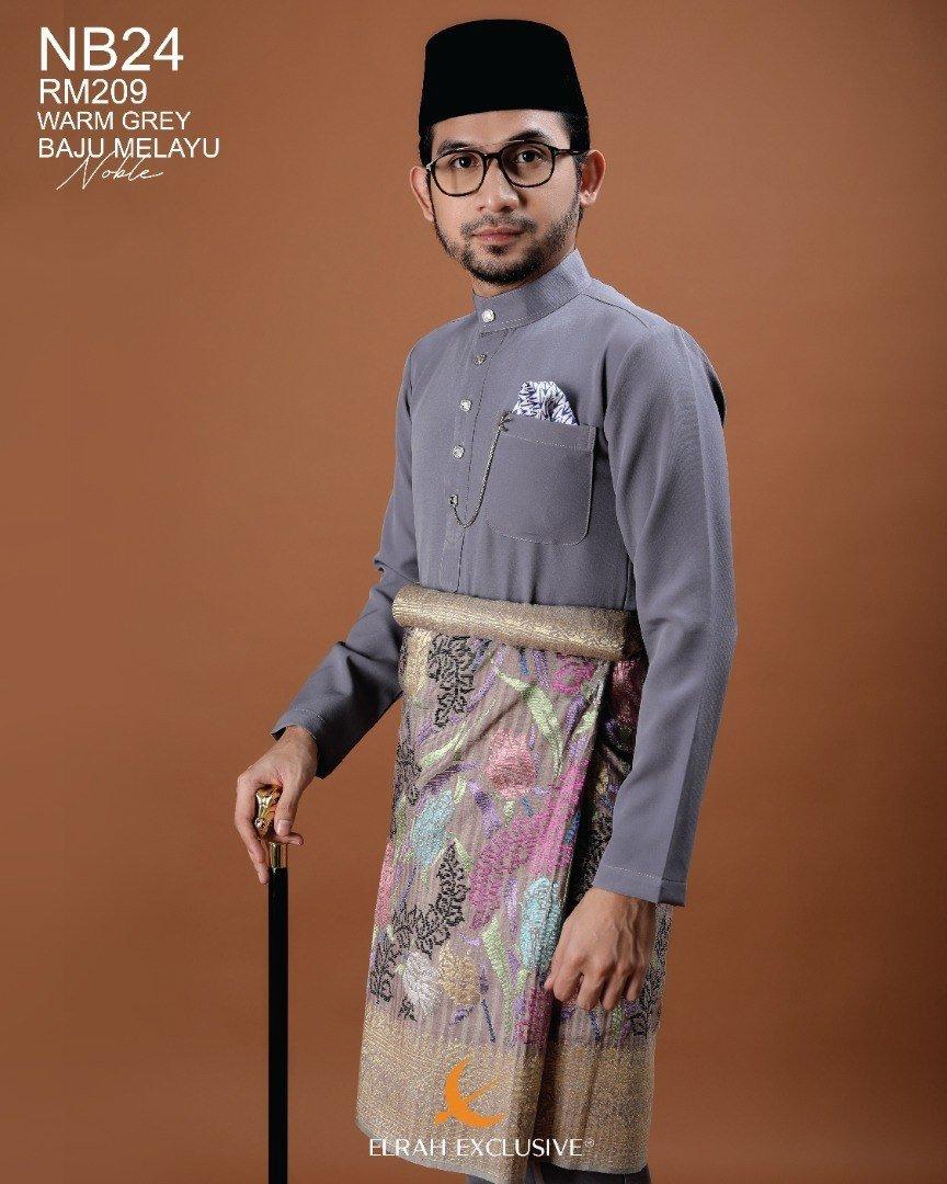 Baju Melayu Noble Warm Grey