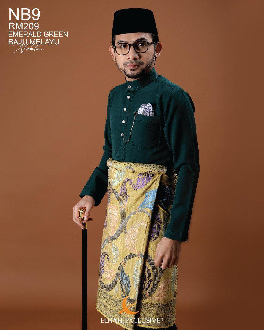 Baju Melayu Noble Emerald Green