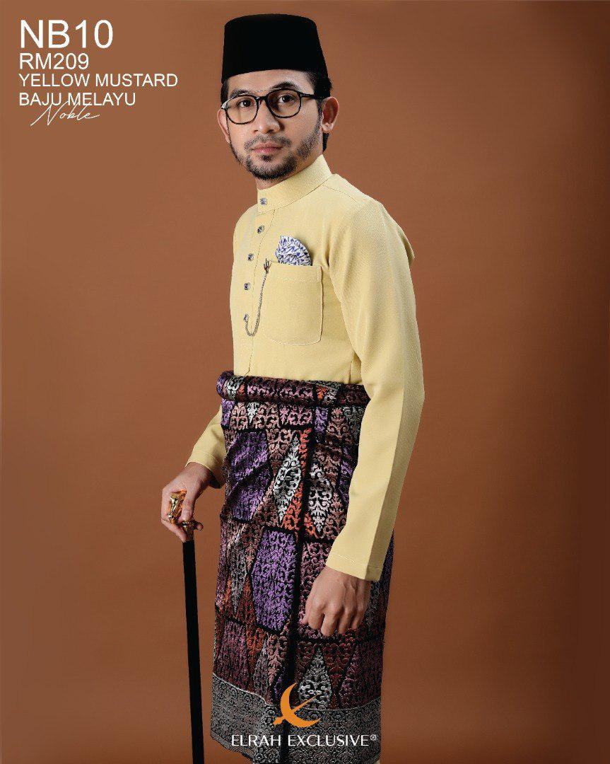 Baju Melayu Noble Yellow Mustard