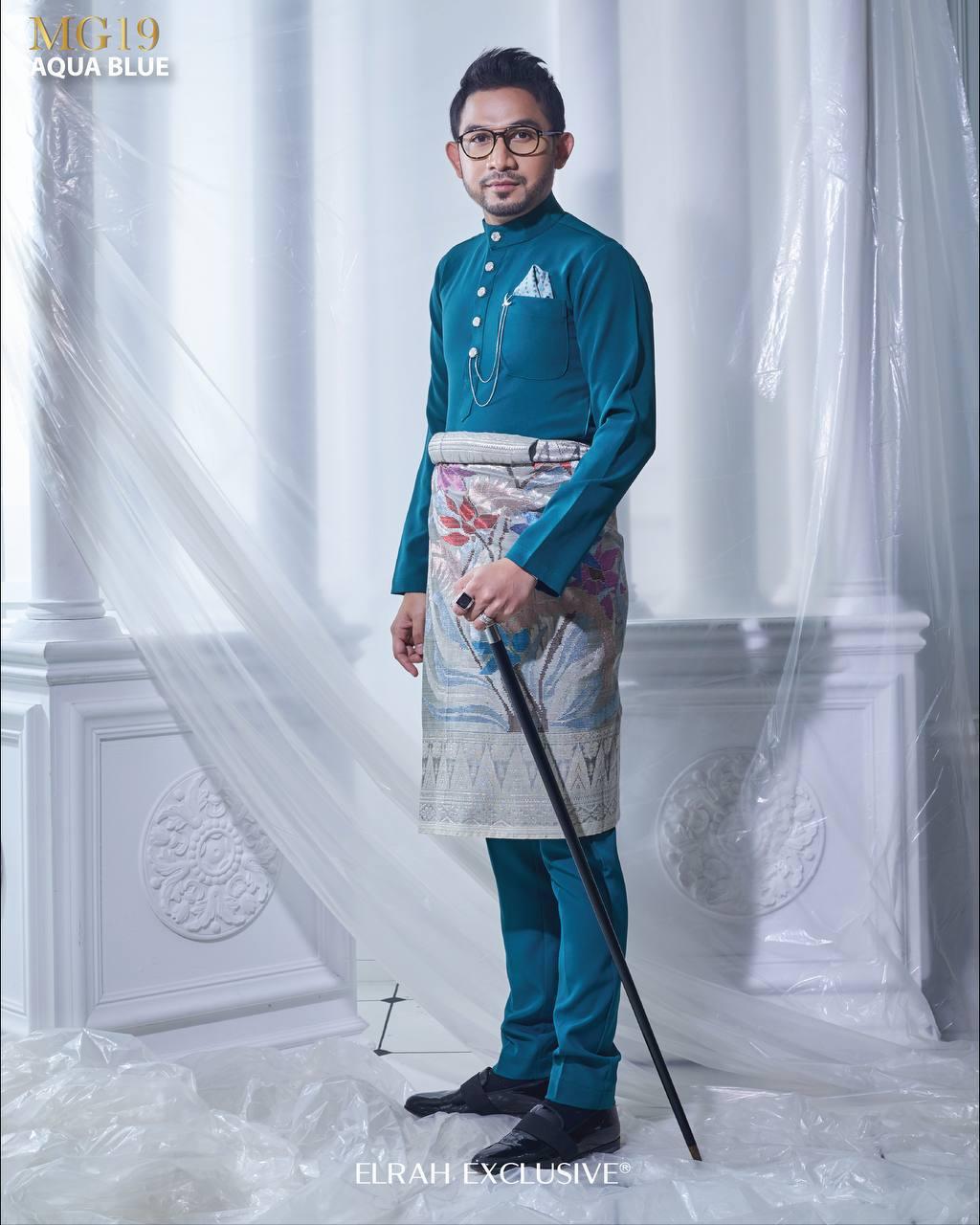 BAJU MELAYU MAGNIFICENT AQUA BLUE (FREE SAMPIN)